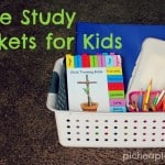 Bible Study Baskets for Kids