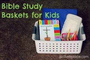 Bible Study Basket for Kids