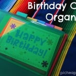 How to Make a Birthday Card Organizer