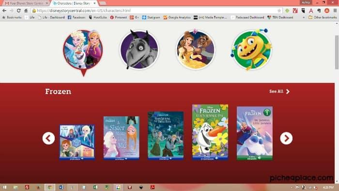 Disney Story Central Screenshot - Frozen Books