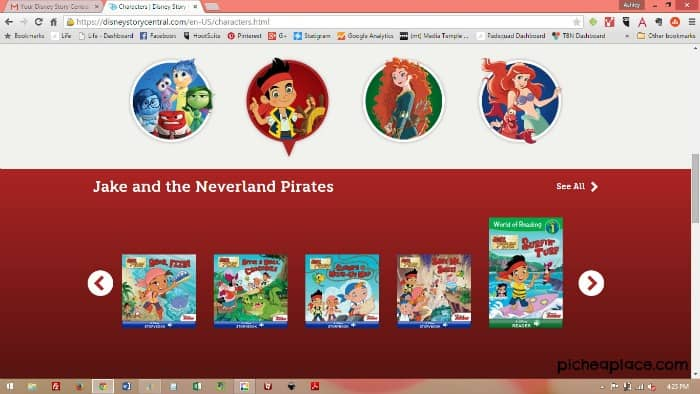 Disney Story Central Screenshot - Jake and the Neverland Pirates books