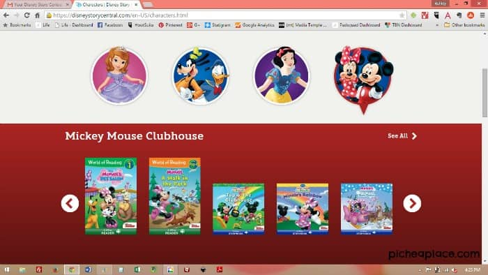 Disney Story Central Screenshot - Mickey Mouse Clubhouse books
