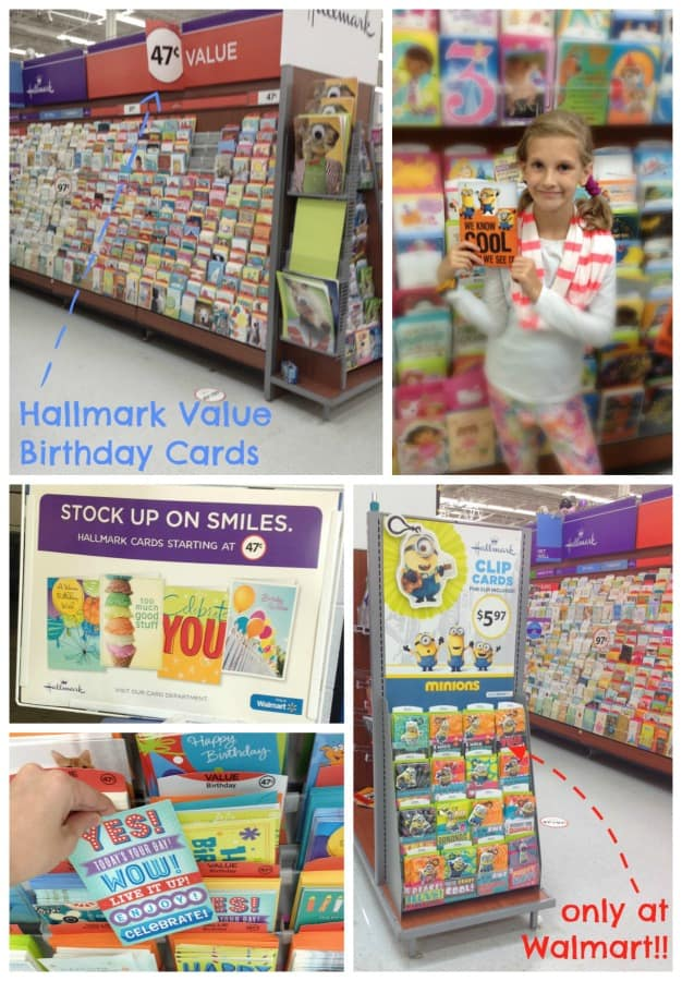 Hallmark Cards at Walmart | Birthday Card Organizer | tutorial with free printable at picheaplace.com