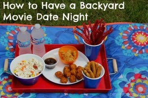 How to Have a Backyard Movie Date Night