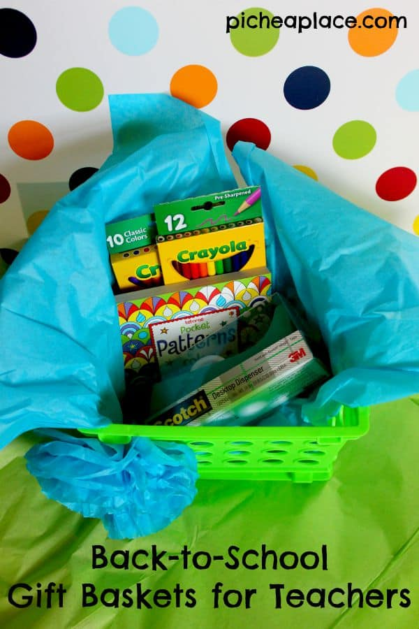 Back-to-School Gift Baskets for Teachers [with paper flower tutorial]