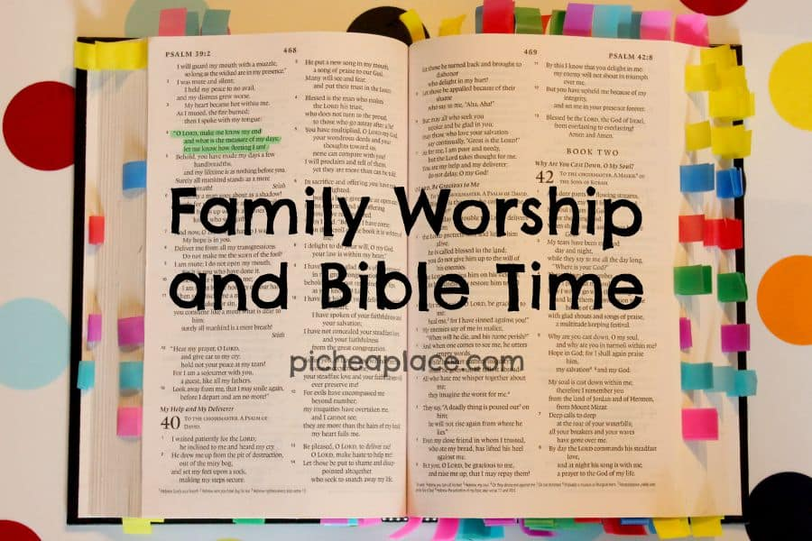Family Worship and Bible Time