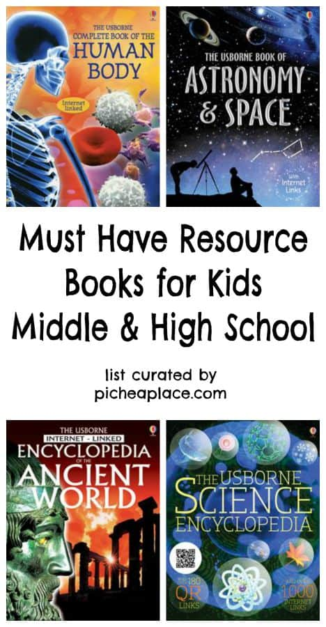 12 Must Have Resource Books for Kids | Middle School & High School