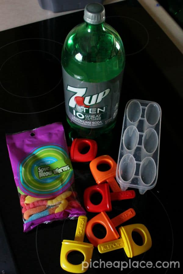 Sweet and Sour Fizzy Gummy Pops - ingredients