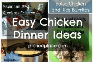 Easy Chicken Dinner Ideas