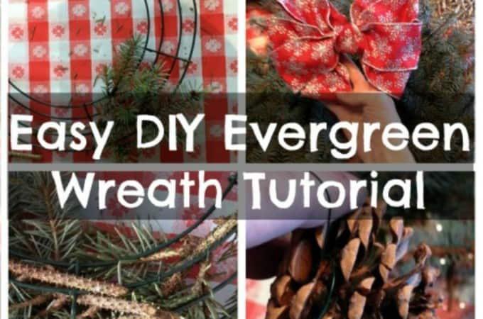 Easy DIY Evergreen Wreath Tutorial