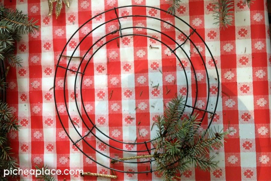 Easy DIY Evergreen Wreath Tutorial