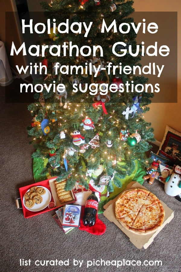Holiday Movie Marathon Guide with family-friendly holiday movie suggestions