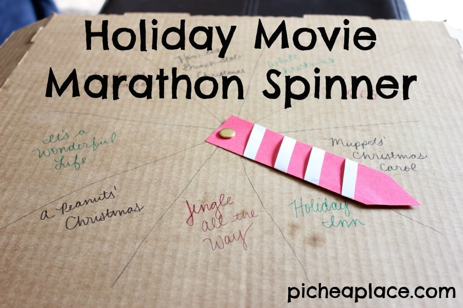 Holiday Movie Marathon Spinner tutorial