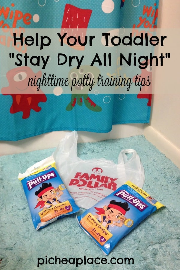 Help Your Toddler Stay Dry All Night - tips for nighttime potty training