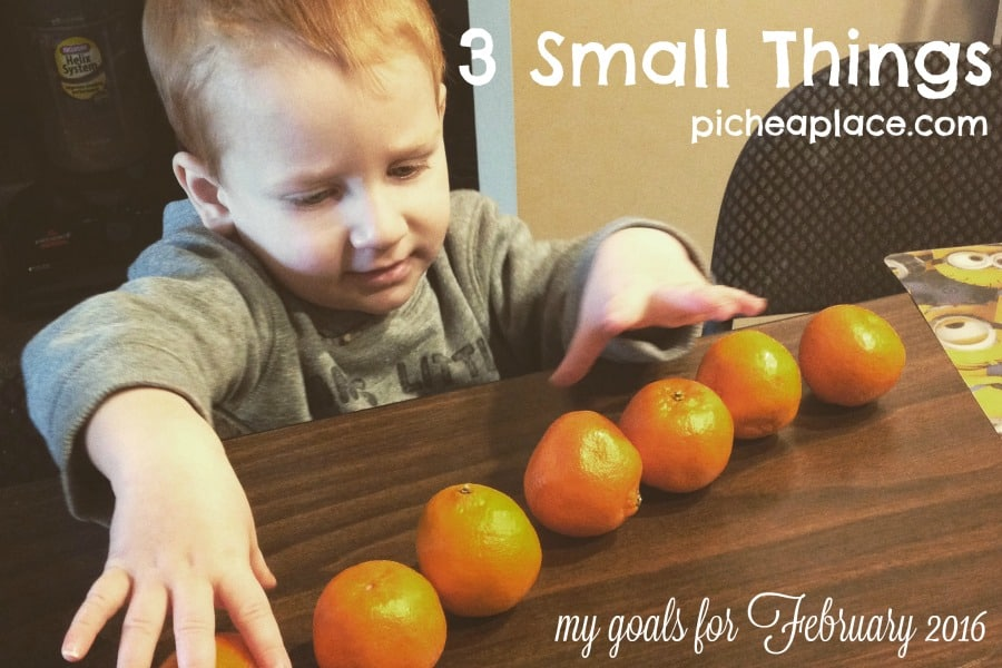3 Small Things - My Goals for February 2016