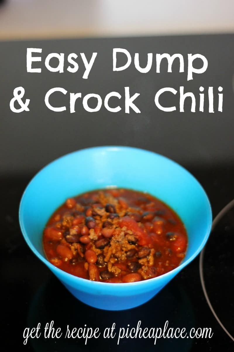 Easy Dump & Crock Chili - the perfect slow cooker recipe to serve your family for dinner tonight!
