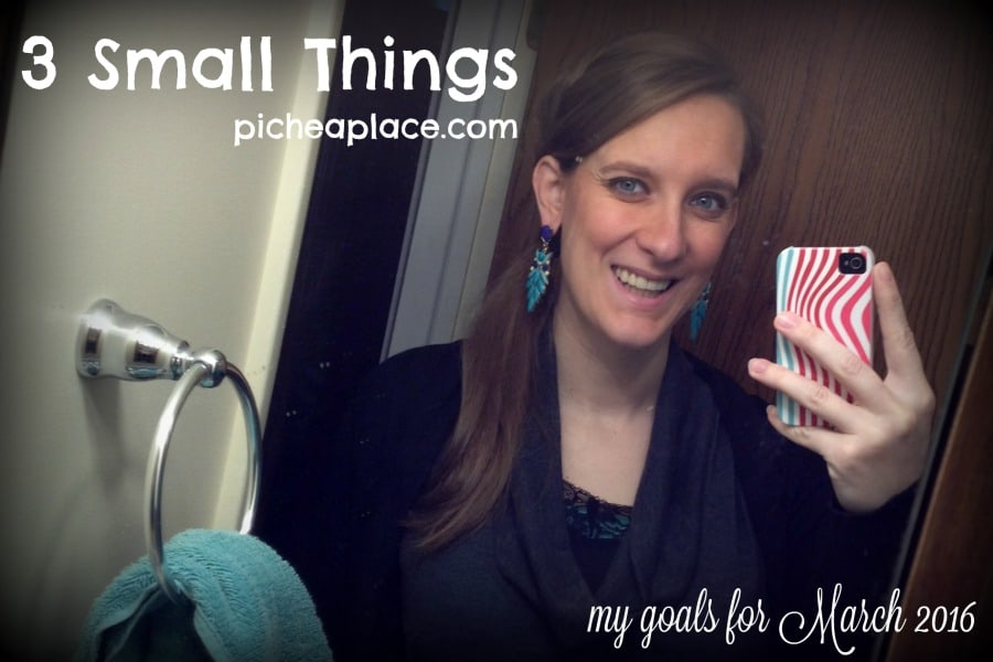3 Small Things - March 2016 Goals
