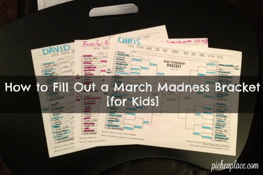 How to Fill Out a March Madness Bracket [for Kids] | fun ways to have your kids join in the NCAA Men's Division One Basketball Tournament fun
