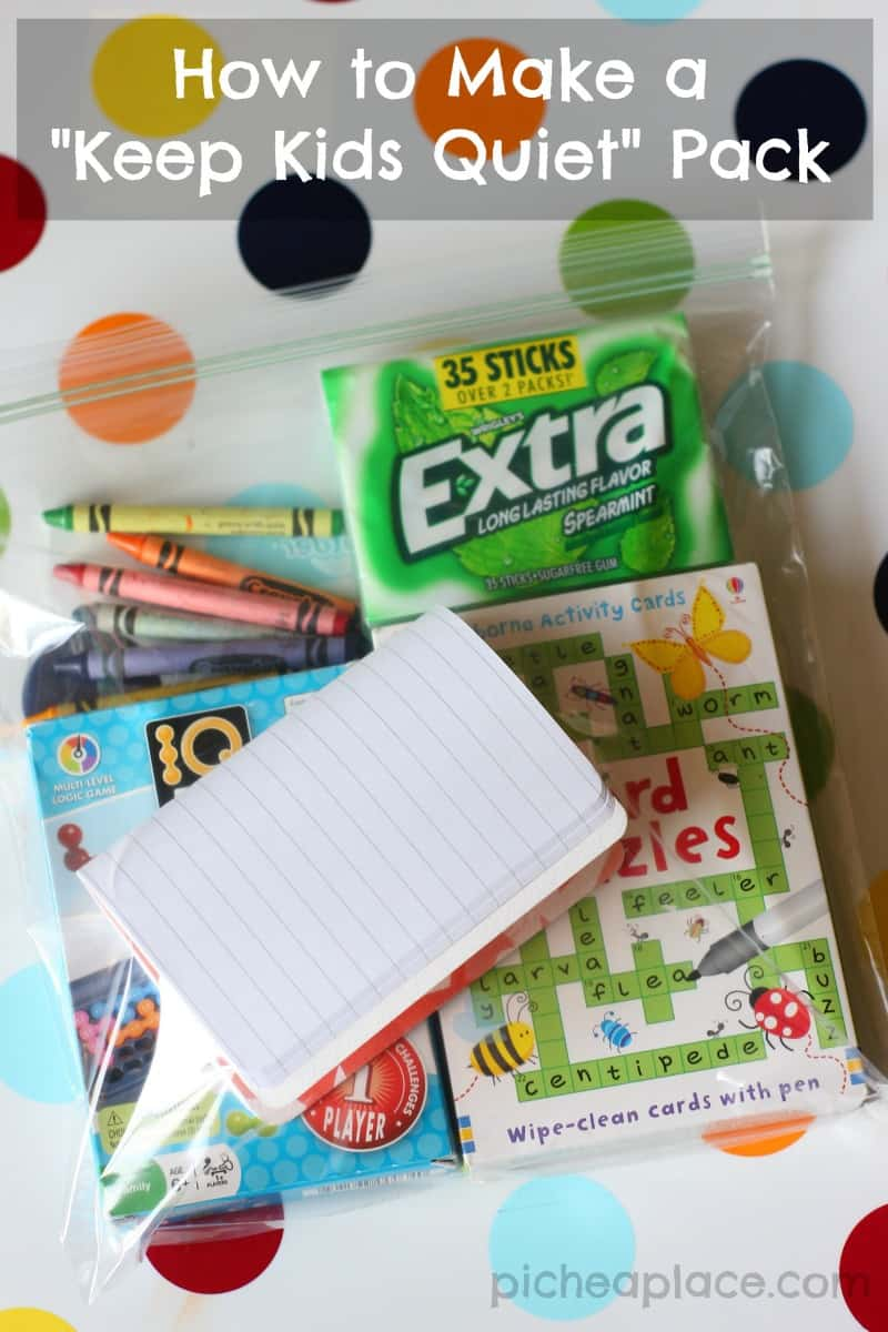 A simple tutorial for making a keep kids quiet pack to keep in your bag - something that you won't want to leave home without!
