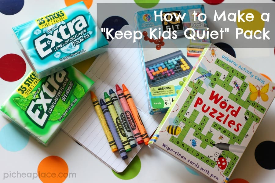 A simple tutorial for making a keep kids quiet