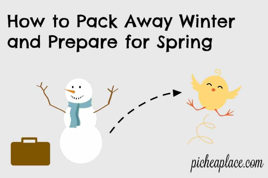 How to Pack Away Winter and Prepare for Spring | tips to help you organize your home and wardrobe