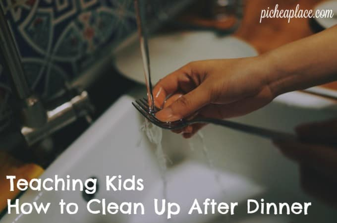Teaching Kids How to Clean Up After Dinner