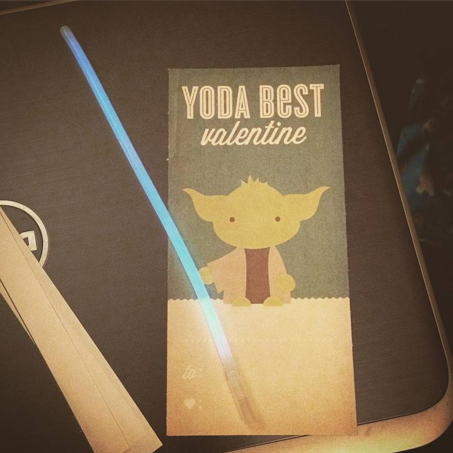 Yoda Star Wars Printable Valentine
