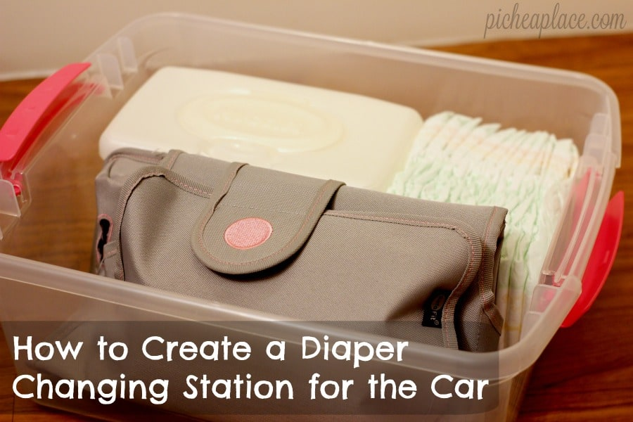 Moms on-the-go know the importance of being prepared for ANYTHING, and that includes diaper changes in the car. Check out this easy tutorial for putting together a diaper changing station for your car, and always be prepared!