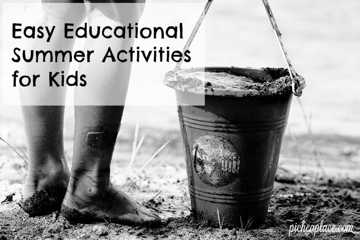 Here are some easy educational summer activities for kids you can do as a family this summer to keep your kids having fun and learning all summer long!