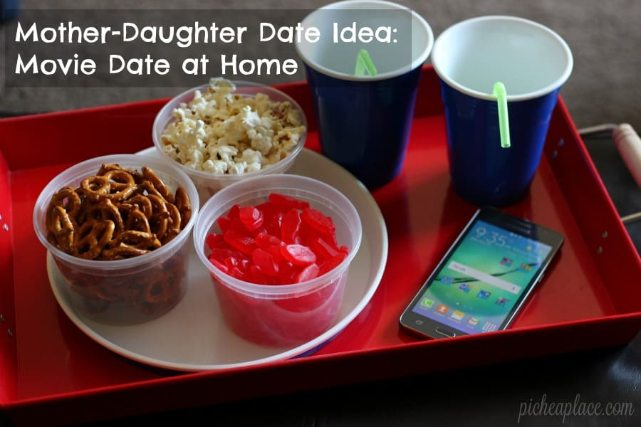 mother daughter date idea movie date at home