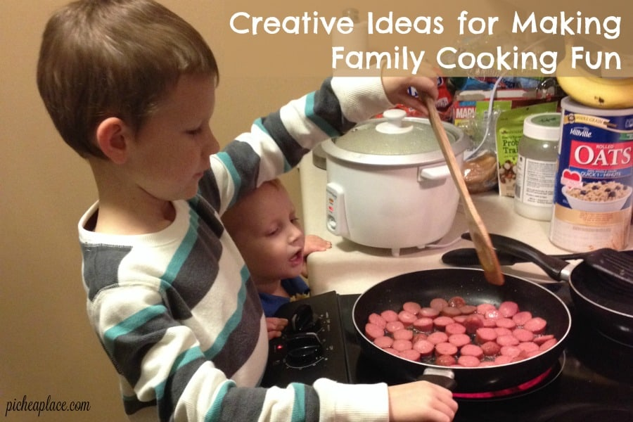 Cooking for a family can be a chore, but it doesn't have to be. Here are a few creative ideas for making family cooking fun.