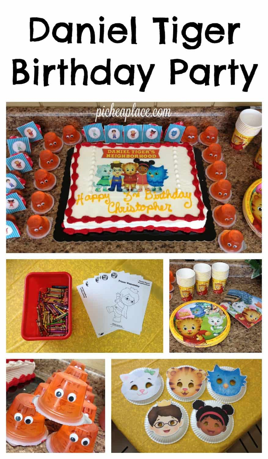   This Daniel Tiger birthday party was so much fun for the kids and super easy for this busy mom to throw together. Click through to the post to get ideas for Daniel Tiger themed food, crafts, activities, and more!