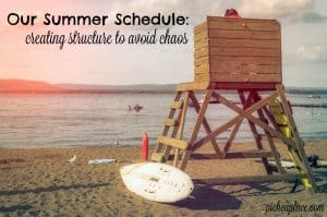 While there is definitely some structure to our daily routine, I've also left plenty of free time for them to be able to enjoy this summer. I've also warned the kids that there will be a lot of days where we won't follow this schedule exactly, but having a routine established will help us to run more smoothly this summer. | Our Summer Schedule: Creating Structure to Avoid Chaos