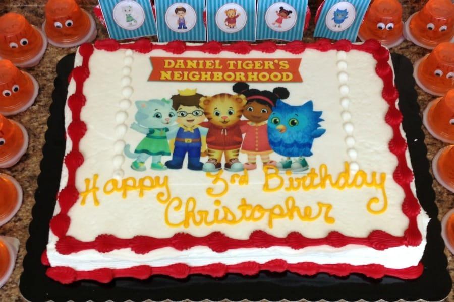 Sensational Daniel Tiger Cake Funny Birthday Cards Online Elaedamsfinfo