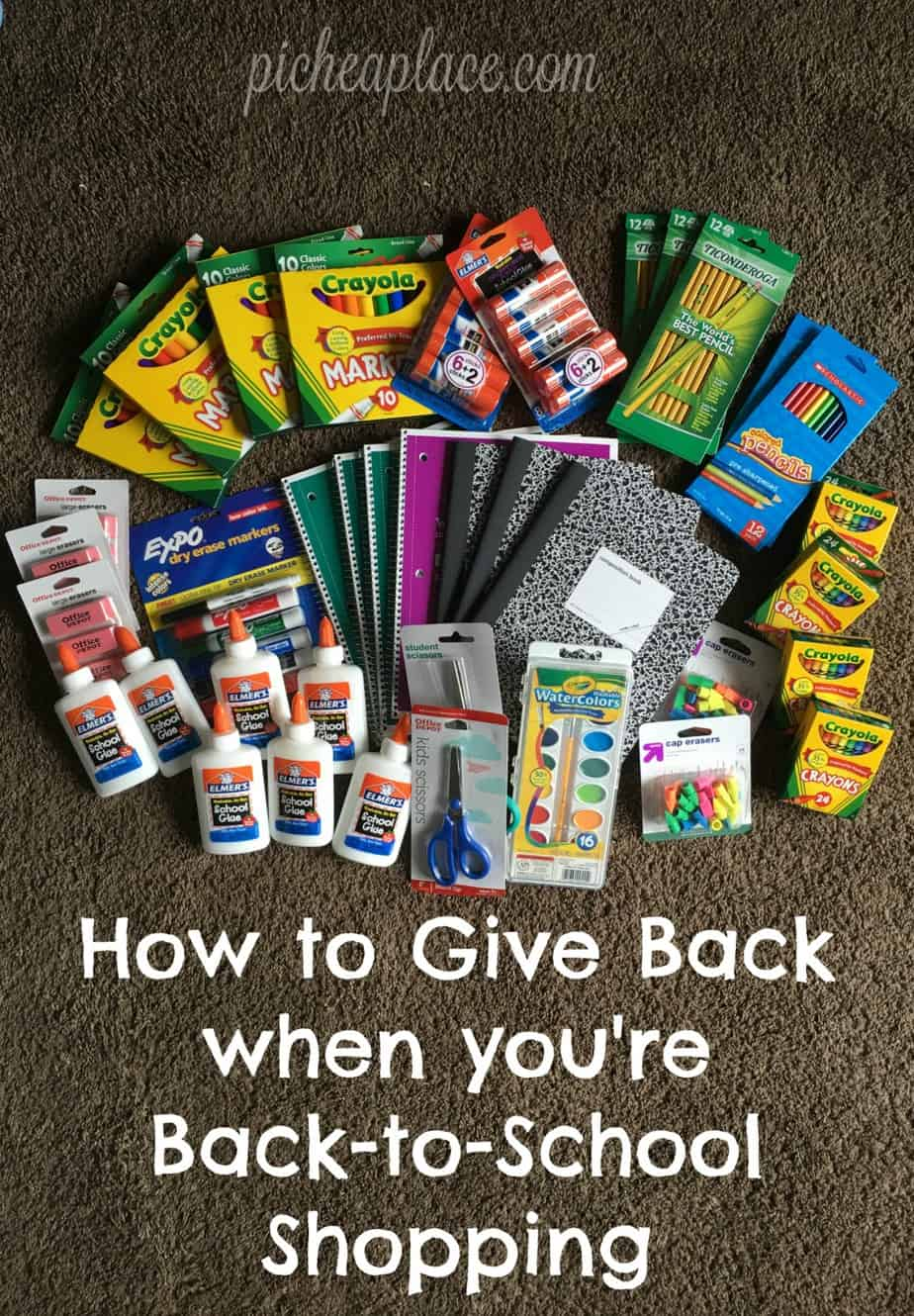 There are many ways to give back when you are back-to-school shopping this year... here is one of our favorite ways!