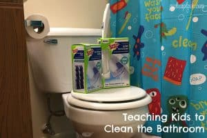 Teaching Kids to Clean the Bathroom + free printable