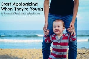 Because of my desire to be a good parent and recognizing that it is impossible for me to be perfect, I believe it is crucial to start apologizing to my children when they are young.