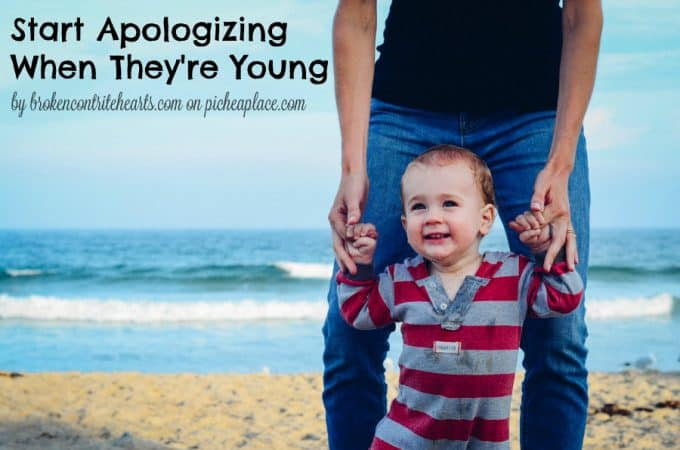 Start Apologizing When They're Young