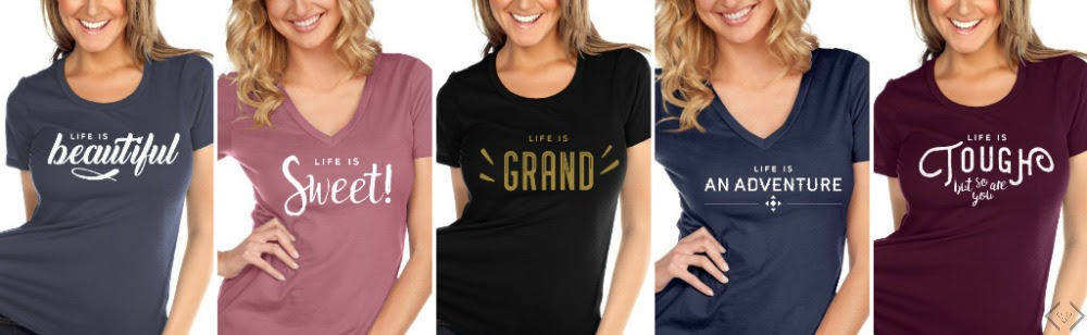 Life Is Tees for $15.95 + FREE SHIPPING w/code LIFEIS1