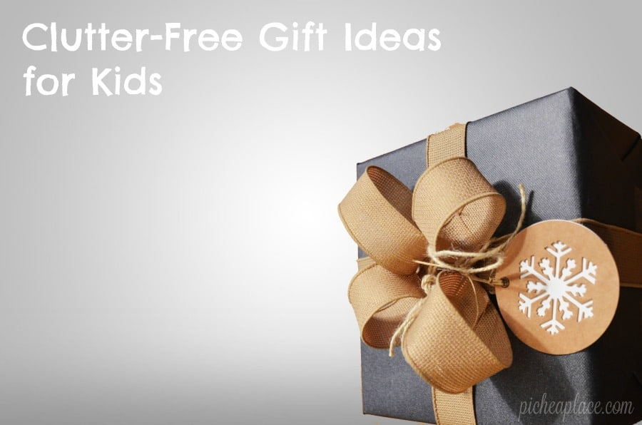 Keeping the clutter at a minimum in your home during the holidays can be a challenge. Here are some consumable and/or clutter-free gift ideas for kids.