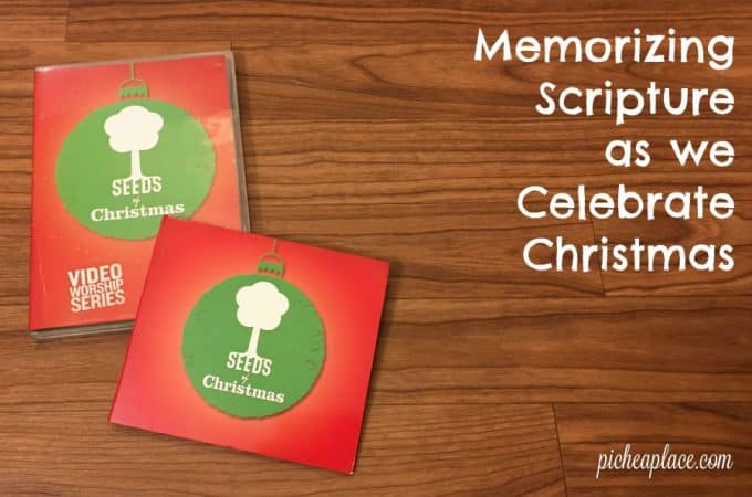 Memorizing Scripture as we Celebrate Christmas