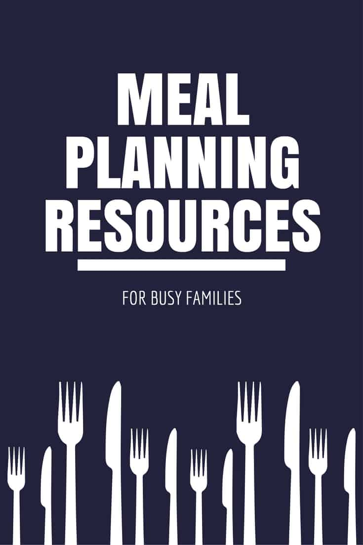 meal planning resources for busy families