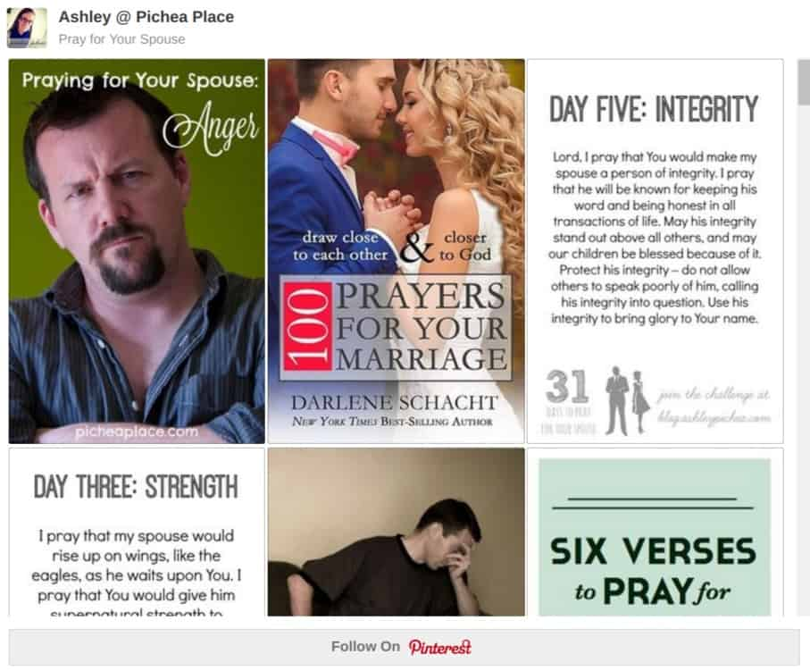 Praying for Your Spouse on Pinterest