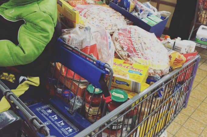 Monthly Aldi Shopping Trip - feeding a family of 6 on a budget