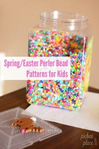 15+ Springtime & Easter Perler Bead Patterns for Kids