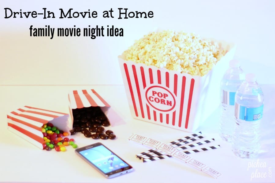 Family Movie Night Idea: Drive-In Movie Theater at Home