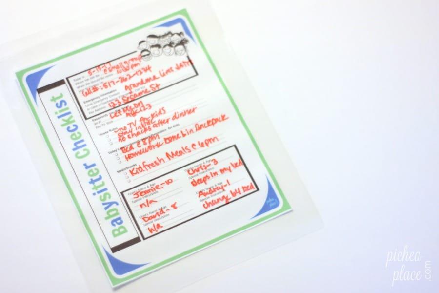Tips for Keeping Kids Safe with a Babysitter + Printable Babysitter Checklist