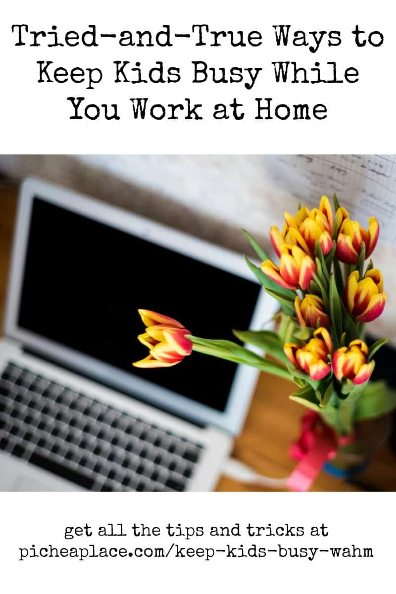 When you work from home, trying to keep an eye on your kids while trying to work can be stressful and counterproductive. Here are some tried-and-true ways to keep kids busy while you work at home.