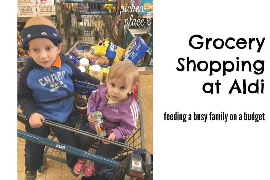feeding a busy family on a budget | grocery shopping at Aldi | monthly meal planning