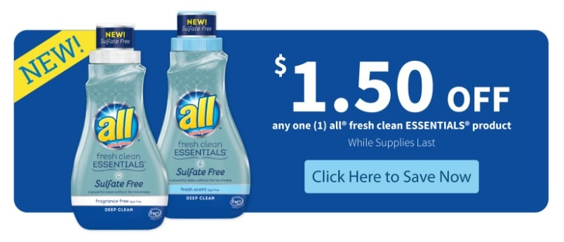 all fresh clean ESSENTIALS coupon